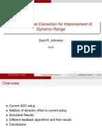 Dynamic Offset Correction