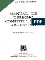 Bidart Campos MANUAL DE DERECHO CONSTITUCIONAL ARGENTINO
