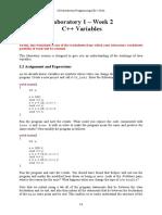 CS Worksheet 1 - Variables