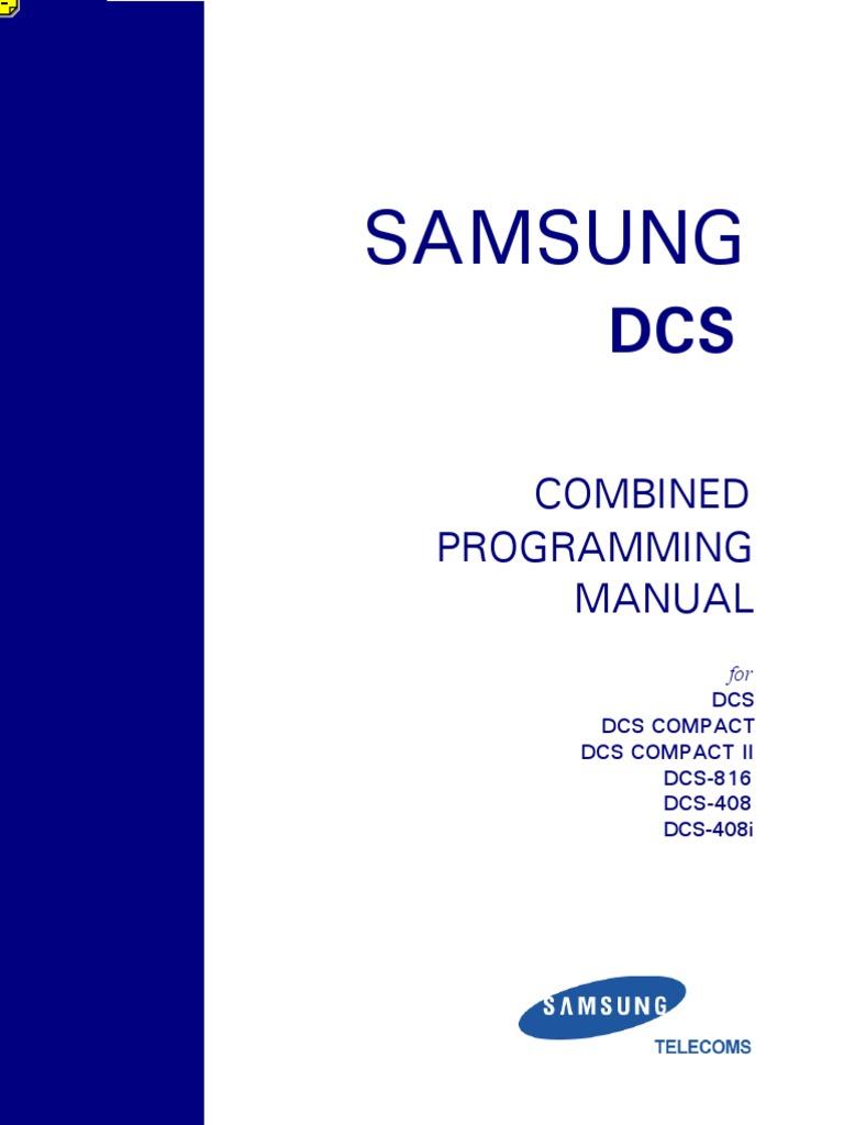 samsung dcs 816 programming manual version 2 voicemail telephone rh scribd com Samsung RFG298 Manual Samsung TV Owner Manuals