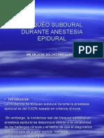 Bloqueo Sub Dural