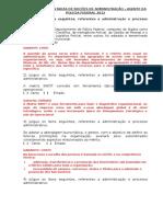 Questões Comentadas de Noções de Administração Agente Pf 2009 e 2012
