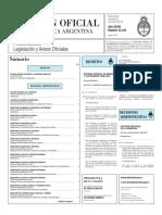 Boletín Oficial de la República Argentina, Número 33.343. 23 de marzo de 2016