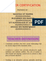 TEACHER CERTIFICATION.ppt