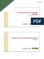 Economia Criativa Um Conceito Em Transformacao - APRESENTACAO_SEC_-MINC