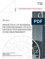 PREDICTION OF MATERIAL PROPERTIES BASED ON NONDESTRUCTIVE BARKHAUSEN NOISE MEASUREMENT