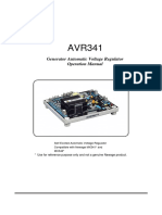 AVR341 Generator Automatic Voltage Regulator Operation Manual