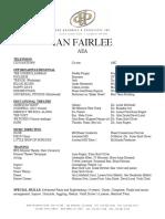 Current 03232016 Ian Fairlee - Resume