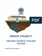 GROUND SOURCE COOLING SYSTEM