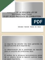 1.8 Analisis de La Segunda Ley de Sistemas Reactivos