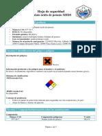 Hoja de seguridad Ftalato ácido de potasio