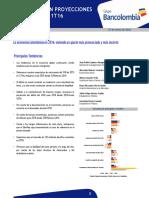 Análisis Bancolombia - Actualización de Proyecciones Económicas - 1T16