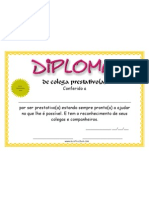 Diploma de Colega Prestativo Certificado Gratis de www.mestrechen.com