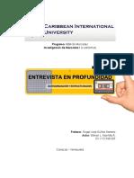 CategorizaciónyEstruturación Entrevista en Profundidad V12960325 Wilmer Montilla