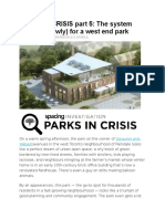 PARKS in CRISIS Part 5 - The System Worked (Slowly) for a West End Park