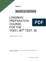 Classroom Activities Longman Prep TOEFL IBT3e