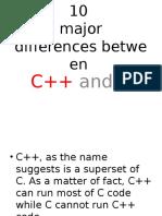 Def between C and C++