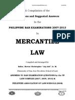Mercantile Law 2007 2013