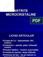 Curs Artrite Microcristaline III