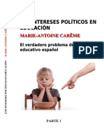 Los Intereses Politicos en Educacion Parte 1 Version eBook A4