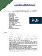 Admin Audit Checklist