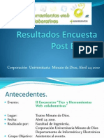 Result a Dos Encuesta Post Evento