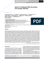 Principles for Predicting RNA Secondary Structure Design Difficulty