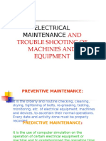 Electrical Maintance and Trouble Shooting of Machines and Equipments