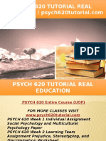 PSYCH 620 TUTORIAL Real Education - Psych620tutorial.com