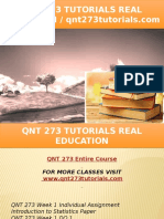 QNT 273 TUTORIALS Real Education - Qnt273tutorials.com