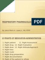 Respiratory Pharmacology