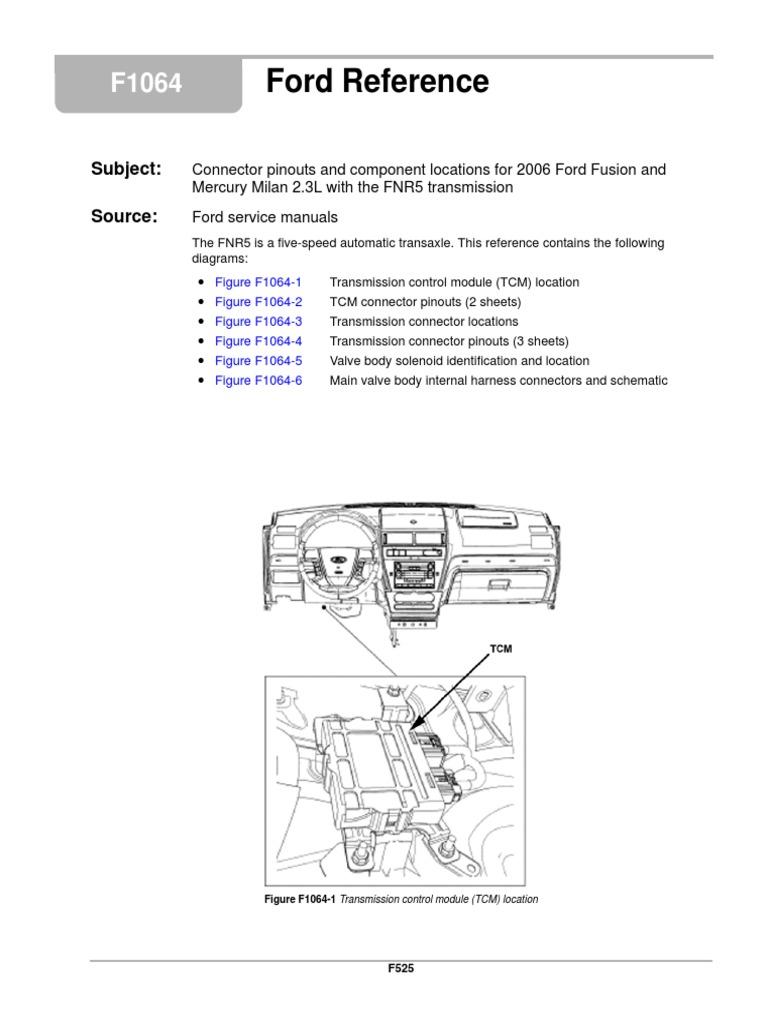 fnr5 diagram sensor transmission mechanics electrical connector rh scribd com FNR5 Transmission Fluid Color Ford FNR5 Transmission