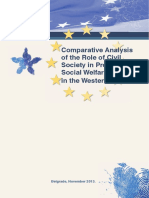 Comparative analysis of the Role of Civil Society in Providing Social Welfare Services in the Western Balkans