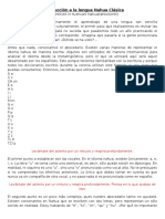 Introducción a La Lengua Nahua Clásica