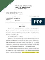 Nippon Life Insurance Co., Inc. v. CIR, CTA Case No. 6142, February 4, 2002