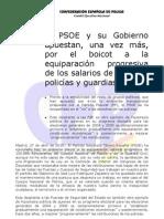 Nota Prensa Comision Interior de 27 Abril