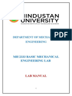 Basic Mechanical Engineering Lab Manual