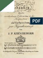 Gedanken über die verschiedenen Lehrarten in der Komposition (Kirnberger, Johann Philipp)