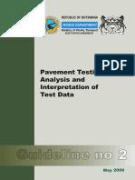 Botswana Manual on Pavement Testing