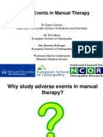Adverse Events in Manual Therapy