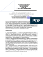 Mechanical Requirements Used in Numerical Analysis of the Human Locomotion