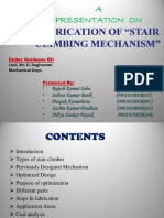 Fabrication of Stair Climbing Mechanism