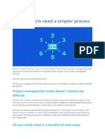 Most projects need a simpler process
