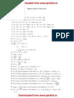 Algebra Formulaes SSC