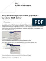 Bloqueando Dispositivos USB via GPO – Windows 2008 Server _ Alexandre Falcão