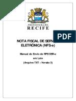NFSe Layout RPS v3 - Nfse Layout Rps v3