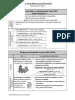 parent newsletter - first grade mathematics mp 3 part 2