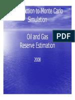 Monte Carlo Oil and Gas Reserve Estimation 080601