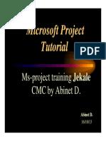 Ms-project Training Jekale Cmc by Abinet