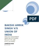Bakshi Amrik Singh v. UOI